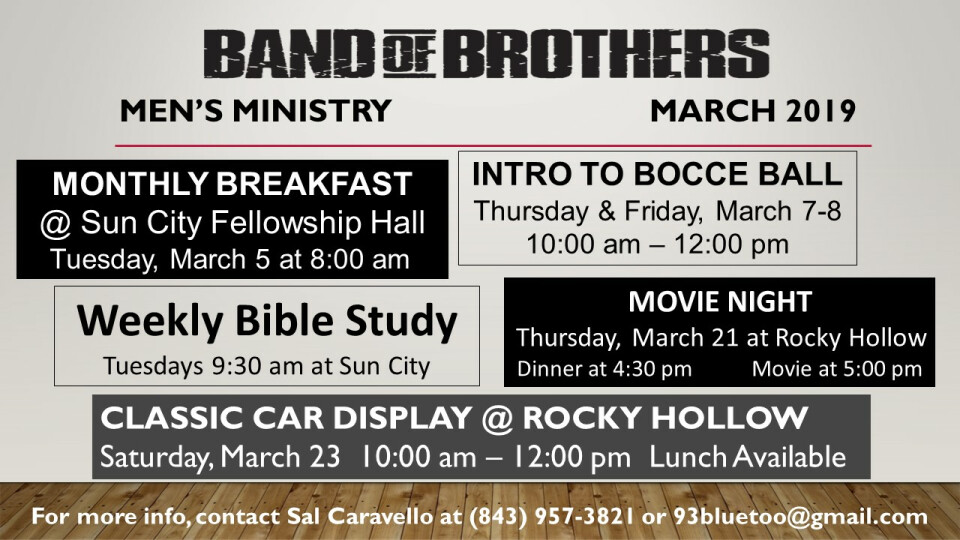 Men's Ministry in March