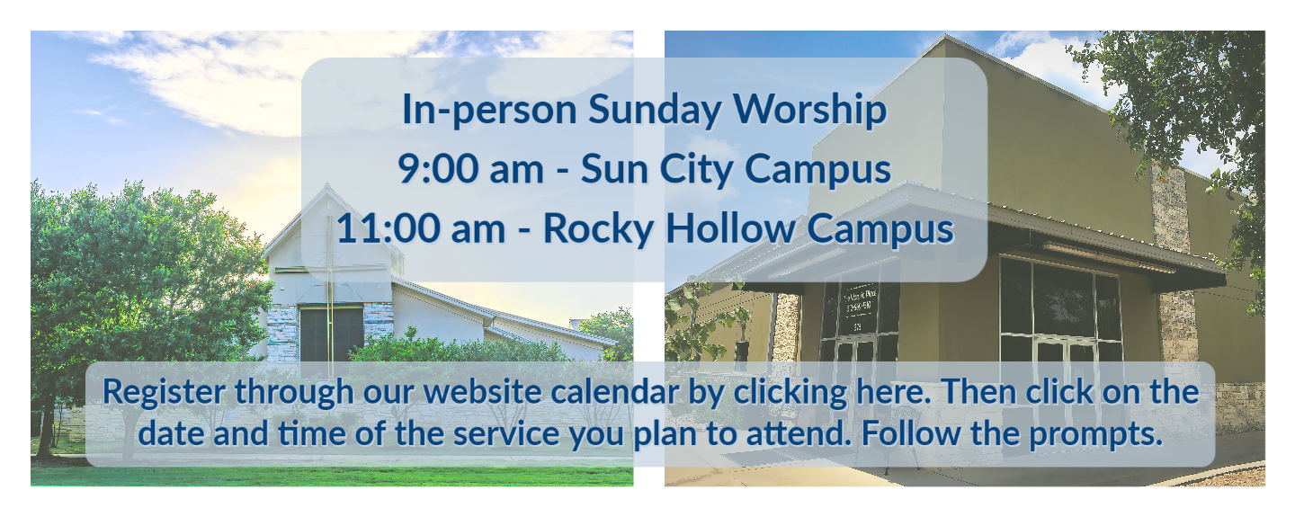 Sept. in-person worship