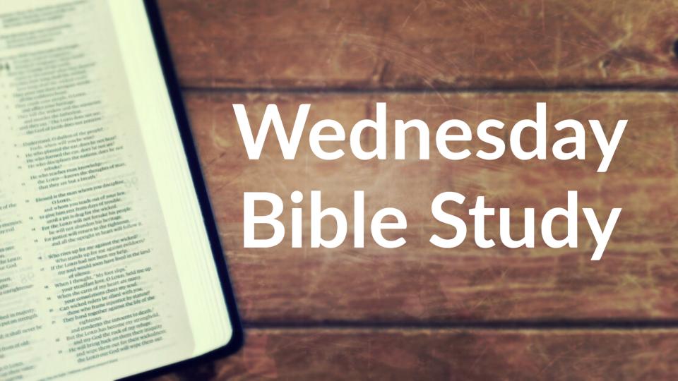 Wednesday Bible Study & Dinner